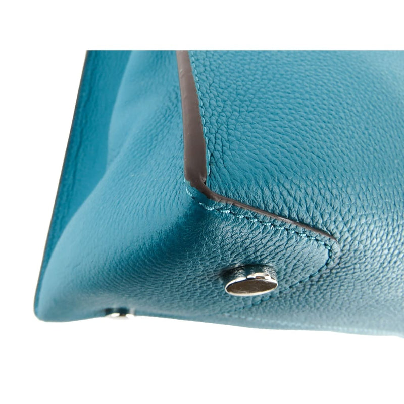 Michael Kors Turquoise Leather Mercer Large Convertible Tote Bag - Totes