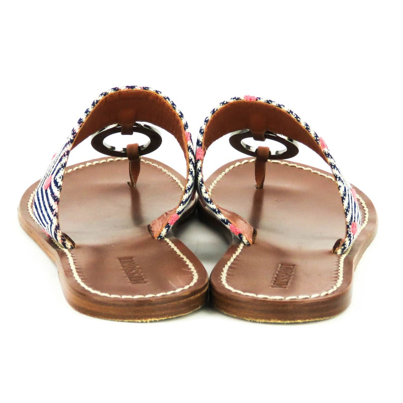 Missoni Tan Leather Chevron Ring Sandals - Sandals