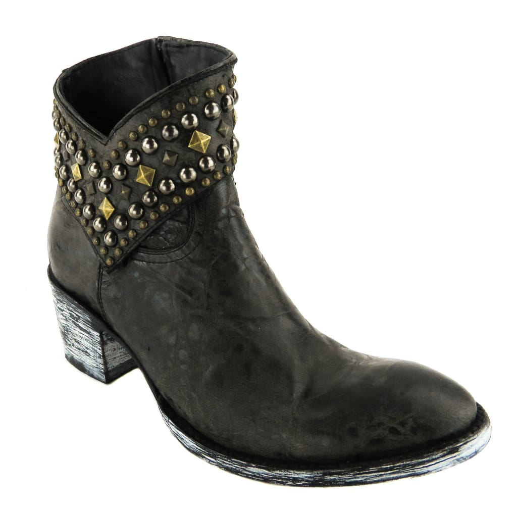 Old Gringo Black Distressed Leather Mini Belinda 7 Ankle Boots - Boots/Rain Boots