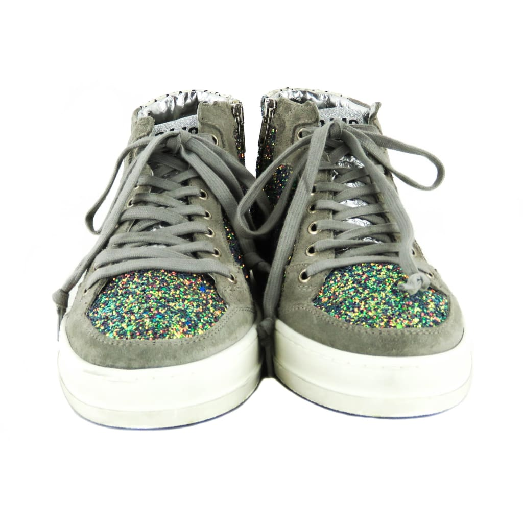 P448 Multicolor Glitter E8 Love High Top Sneakers - Sneakers