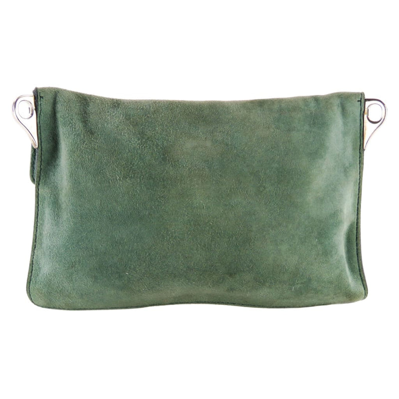 Prada Green Suede Scamosciato Sound Mini Shoulder Bag - handbags