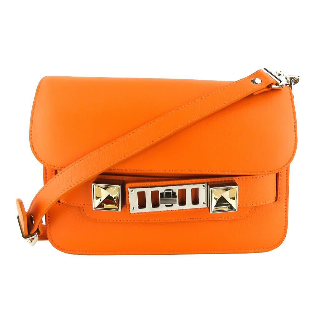 Proenza Schouler Orange Leather PS11 Mini Classic Crossbody Bag - Crossbodies