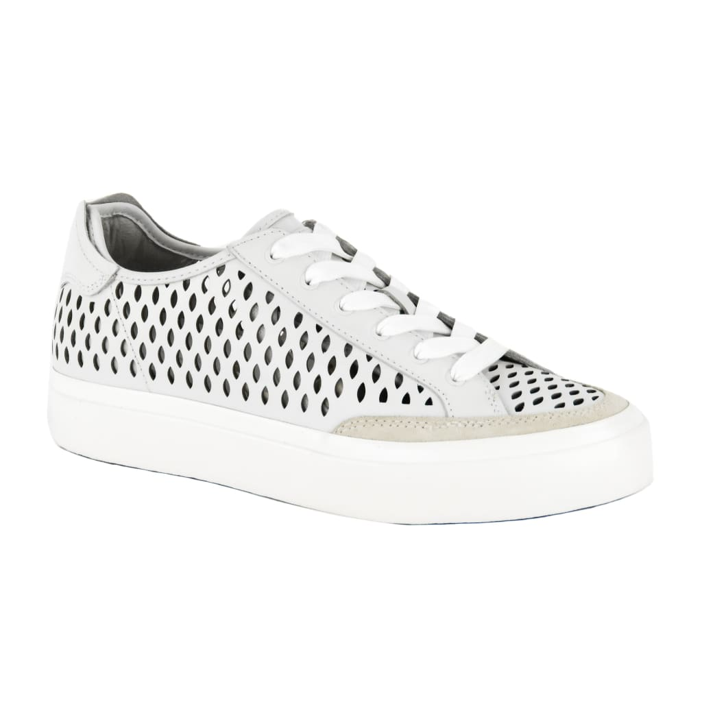 Rag & Bone White Perforated Leather RB Army Low-Top Sneakers - Sneakers