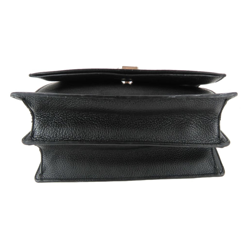 Saint Laurent Black Grain Leather Medium Sunset Shoulder Bag - Shoulder Bags