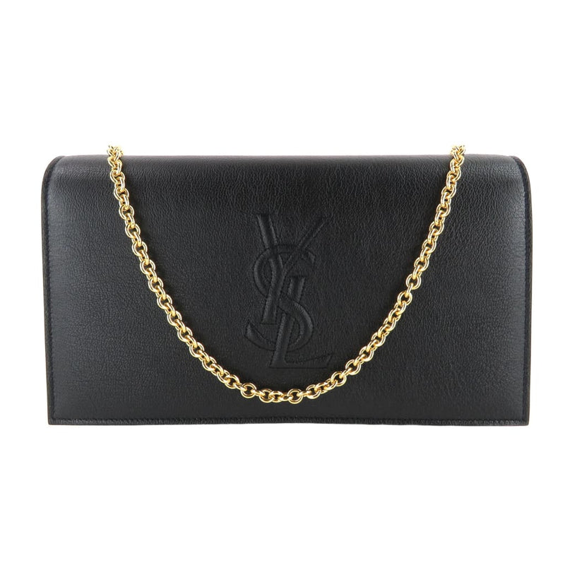Saint Laurent Black Leather Belle De Jour Wallet Clutch Shoulder Bag - Shoulder Bags