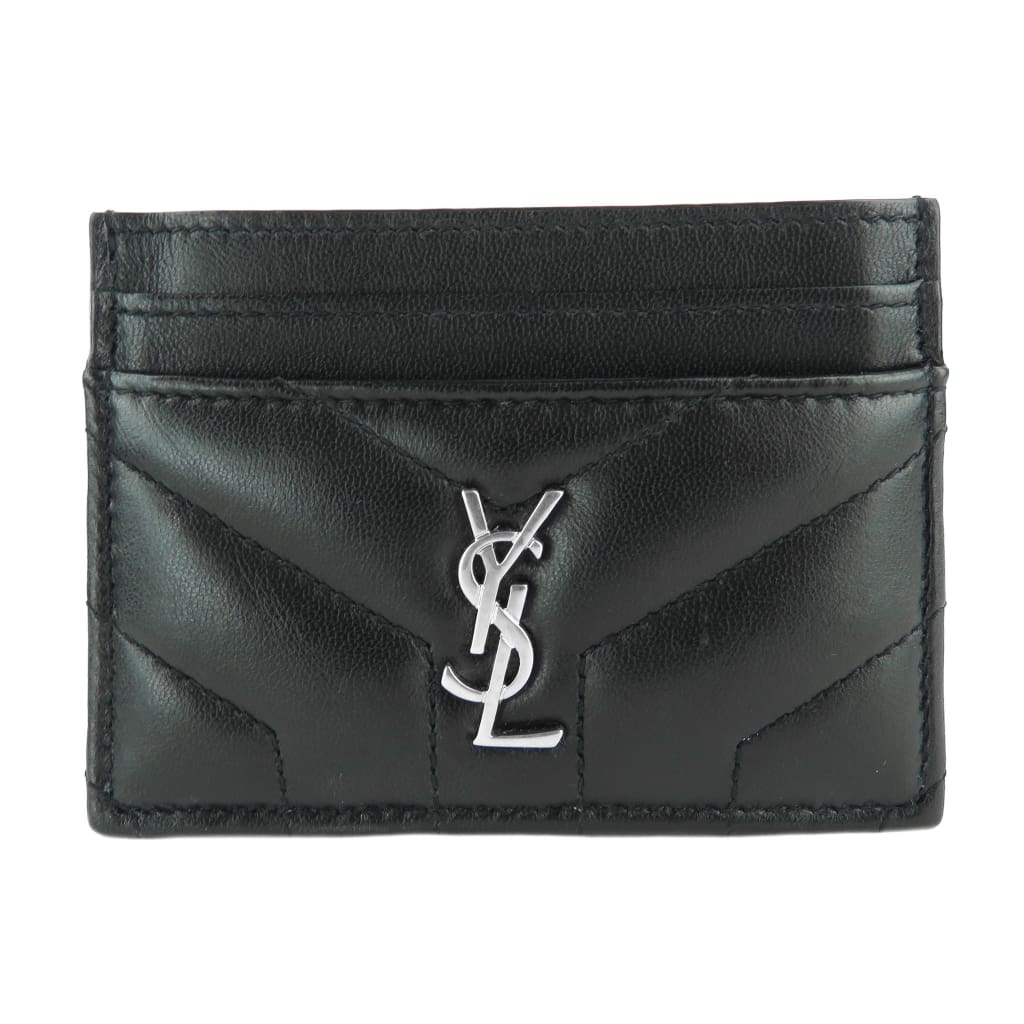 Saint Laurent Black Matelasse Y Leather Lou Lou Card Case - Card Case