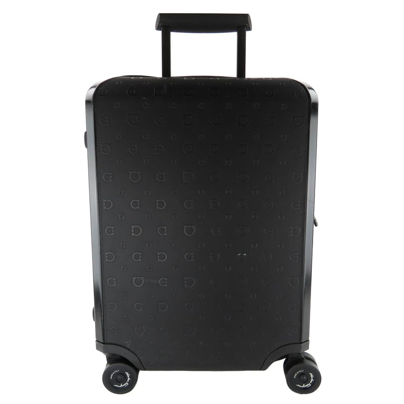 Salvatore Ferragamo Black Polycarbonate Cabin Wheel Rolling Luggage Suitcase - Luggage