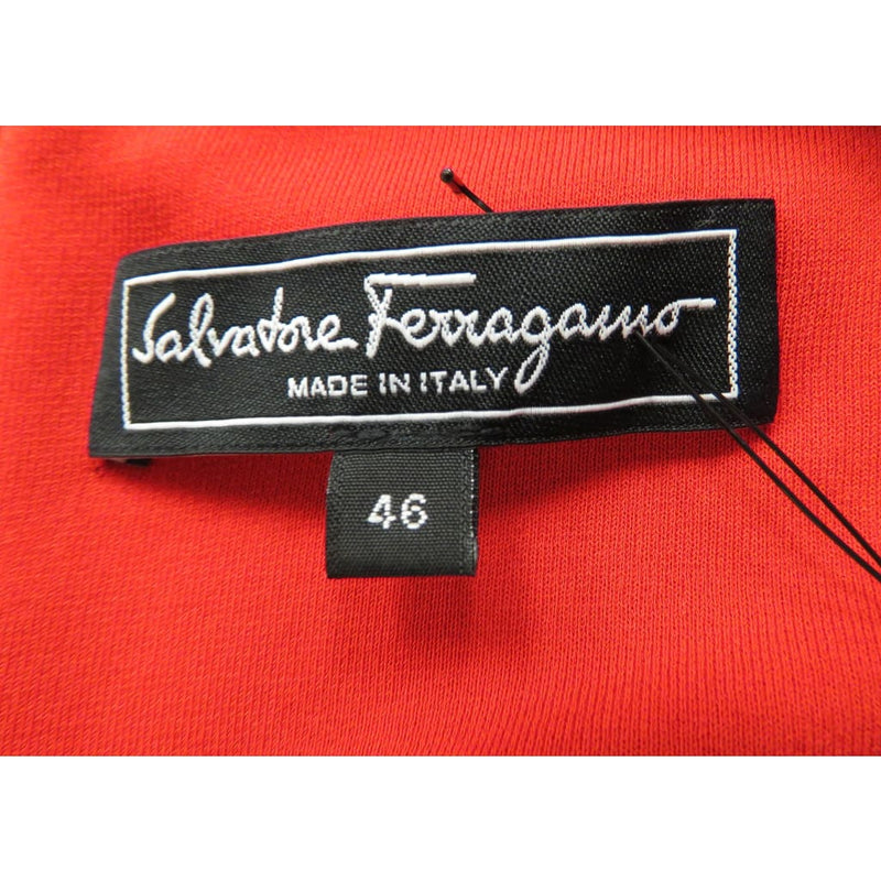 Salvatore Ferragamo Red Rayon Short Sleeve Size 46 Dress - Dress
