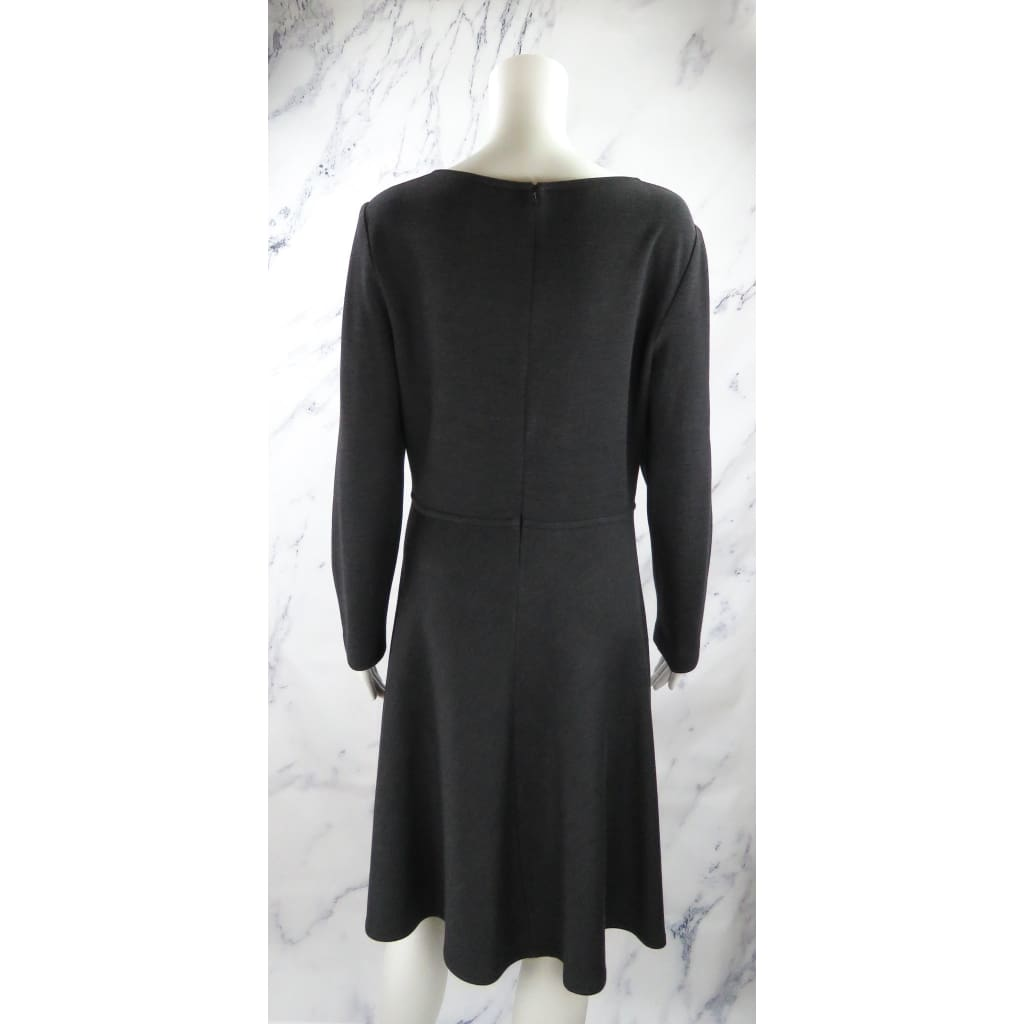 St. John Charcoal Grey Wool Blend Size 8 Long Sleeve Dress - Dresses