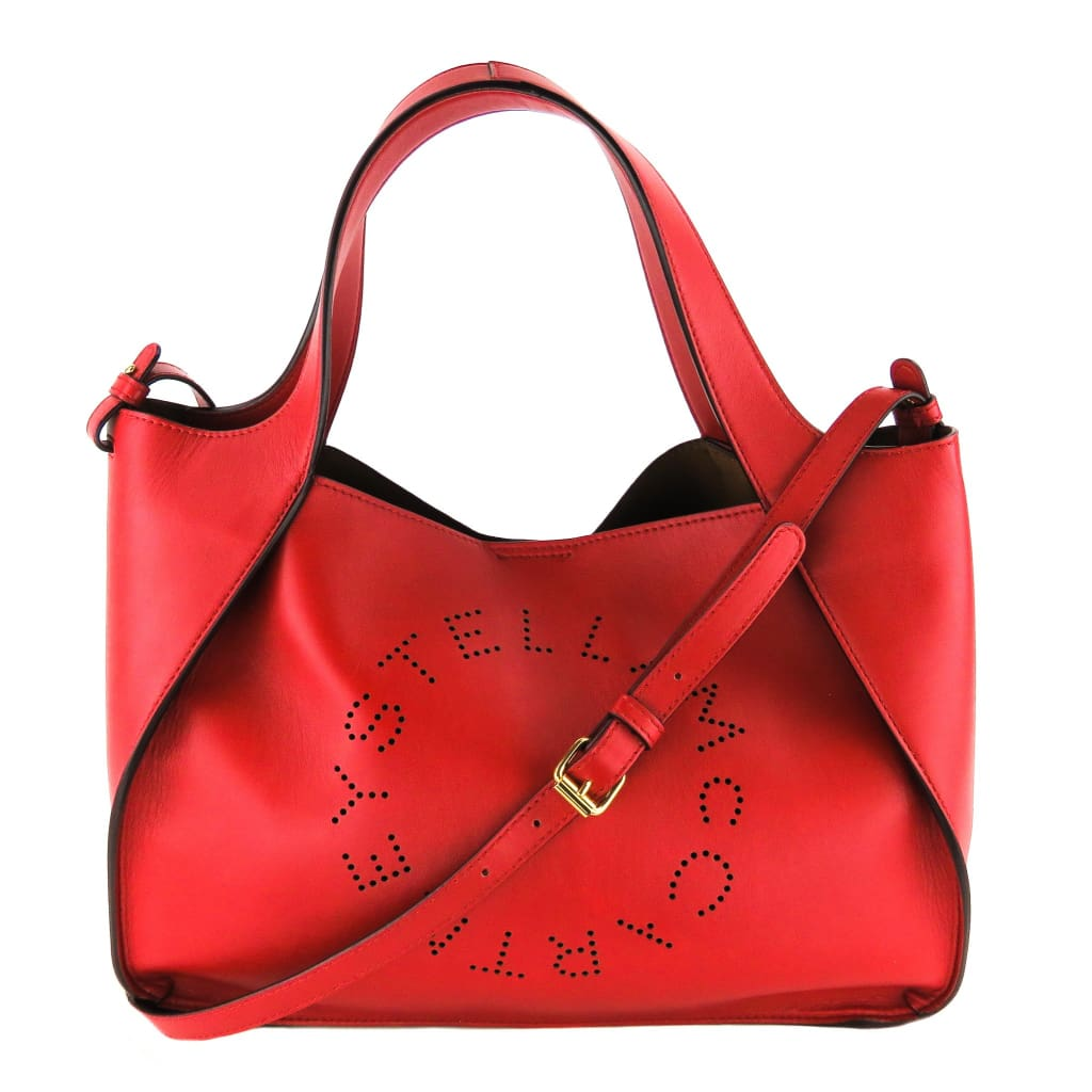 Stella McCartney Red Vegan Leather Eco Alter Nappa Crossbody Tote Bag - Totes