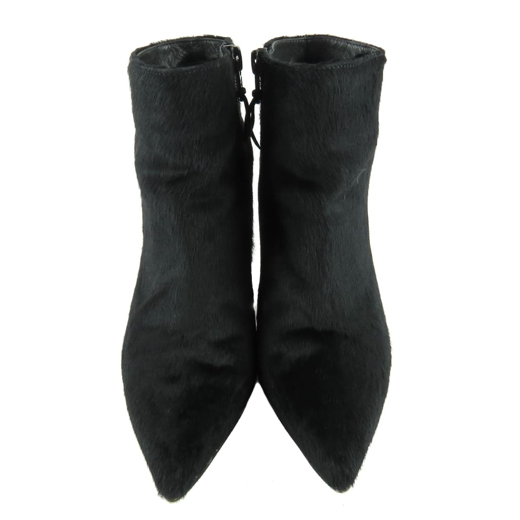Stuart Weitzman Black Calf Hair Hi Times Ankle Booties - Bootie