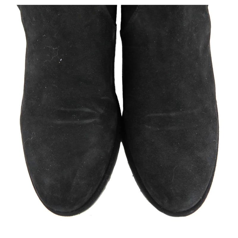 Stuart Weitzman Black Suede Lowland Over The Knee Boots - Boots/Rain Boots