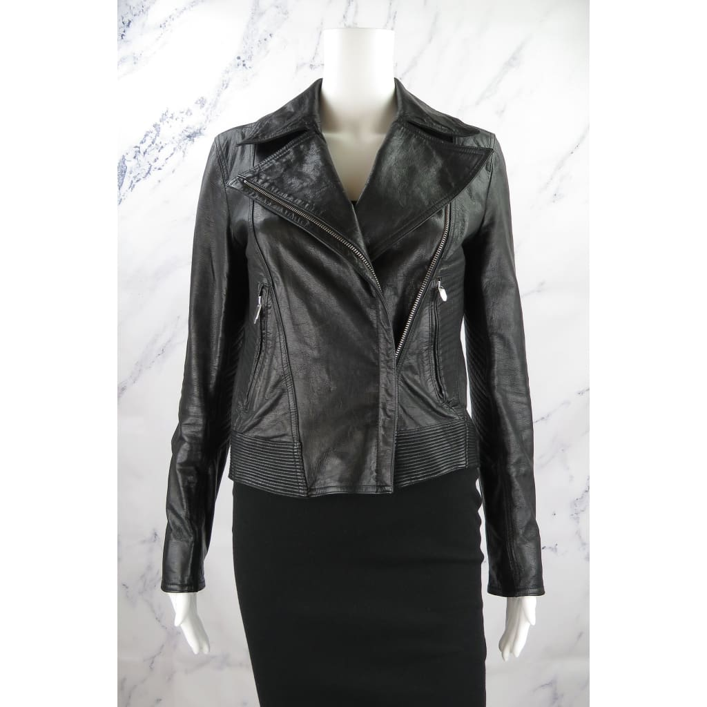Theyskens Theory Leather Small Javda Norinto Moto Jacket - Jacket
