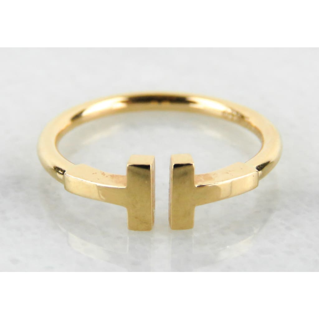 Tiffany & Co 18kt Gold T Square Ring - Ring
