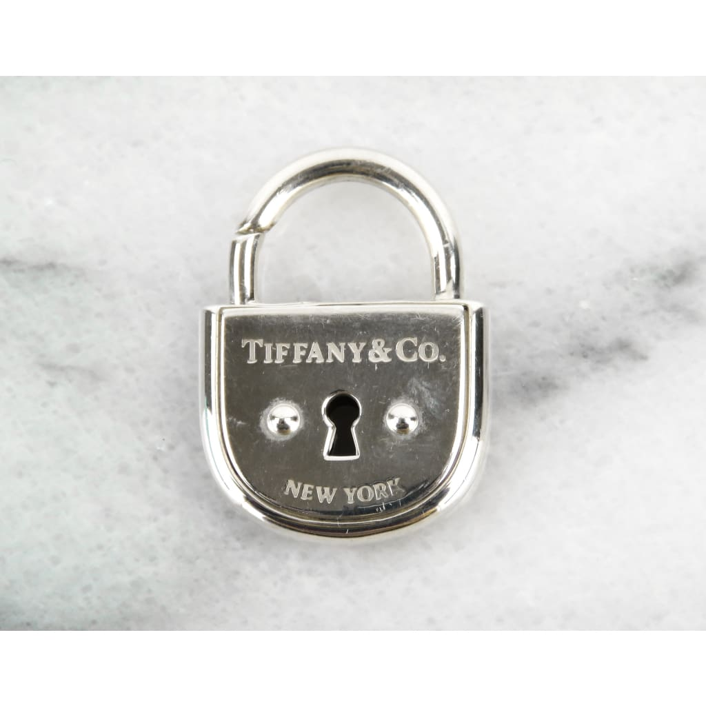 Tiffany & Co Sterling Silver Arc Lock Pendant - Charm