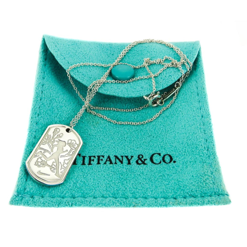 Tiffany & Co Sterling Silver Nike Logo Womens Finisher Pendant Necklace - Necklace