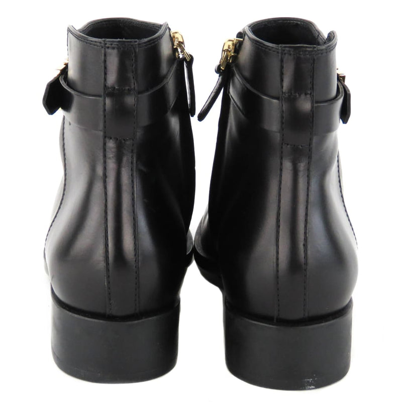 Tods Black Leather Short Ankle Boots - Bootie