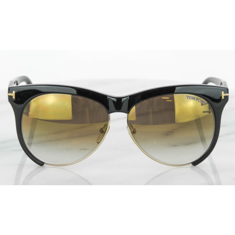 Tom Ford Black Gold-tone Leona TF365 Sunglasses - Sunglasses