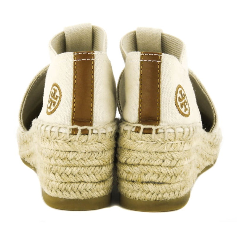 Tory Burch Beige Canvas Catalina Natural Espadrille Wedges - Wedges