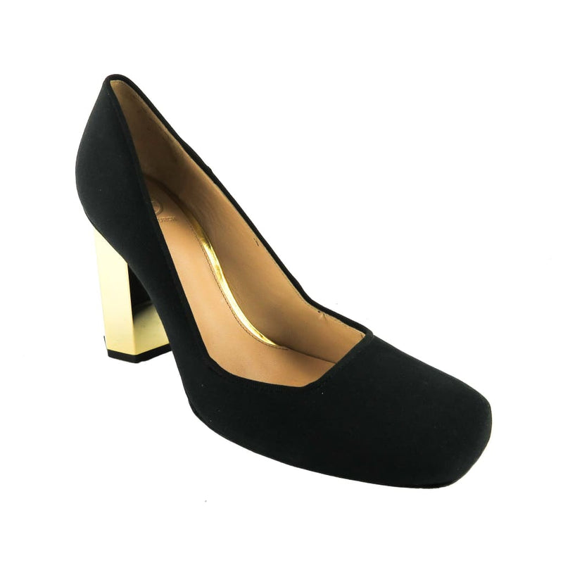 Tory Burch Black Grosgrain Fabric Gold-tone Heel Pumps - Heels