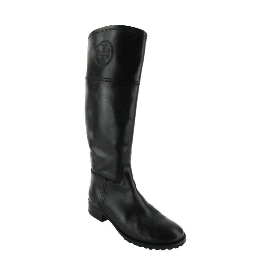 Tory Burch Black Leather Jackson Knee High Boots - Boots/Rain Boots