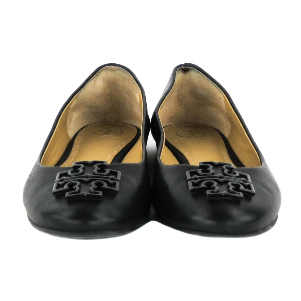 Tory Burch Black Leather Melinda Ballet Flats - Flats