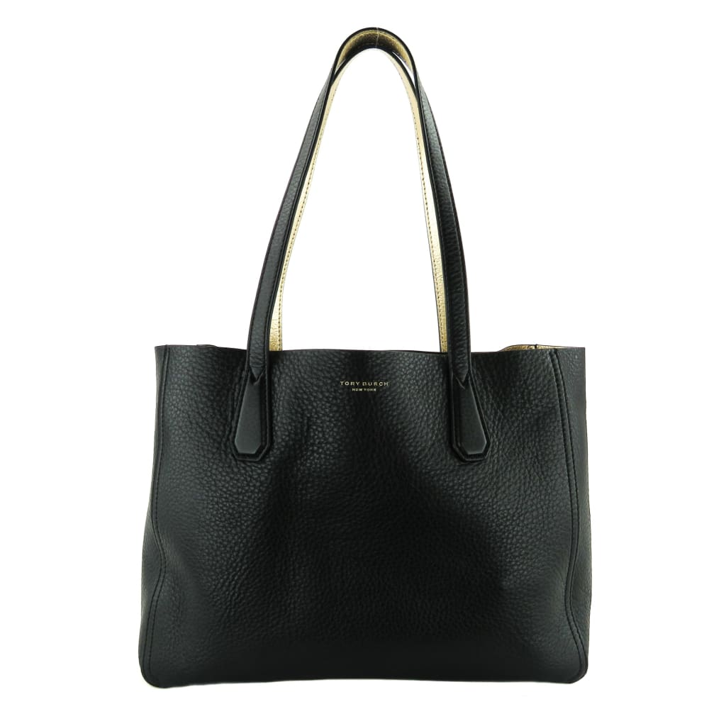 Tory Burch Black Leather Mini Perry Phoebe Tote Bag - Totes