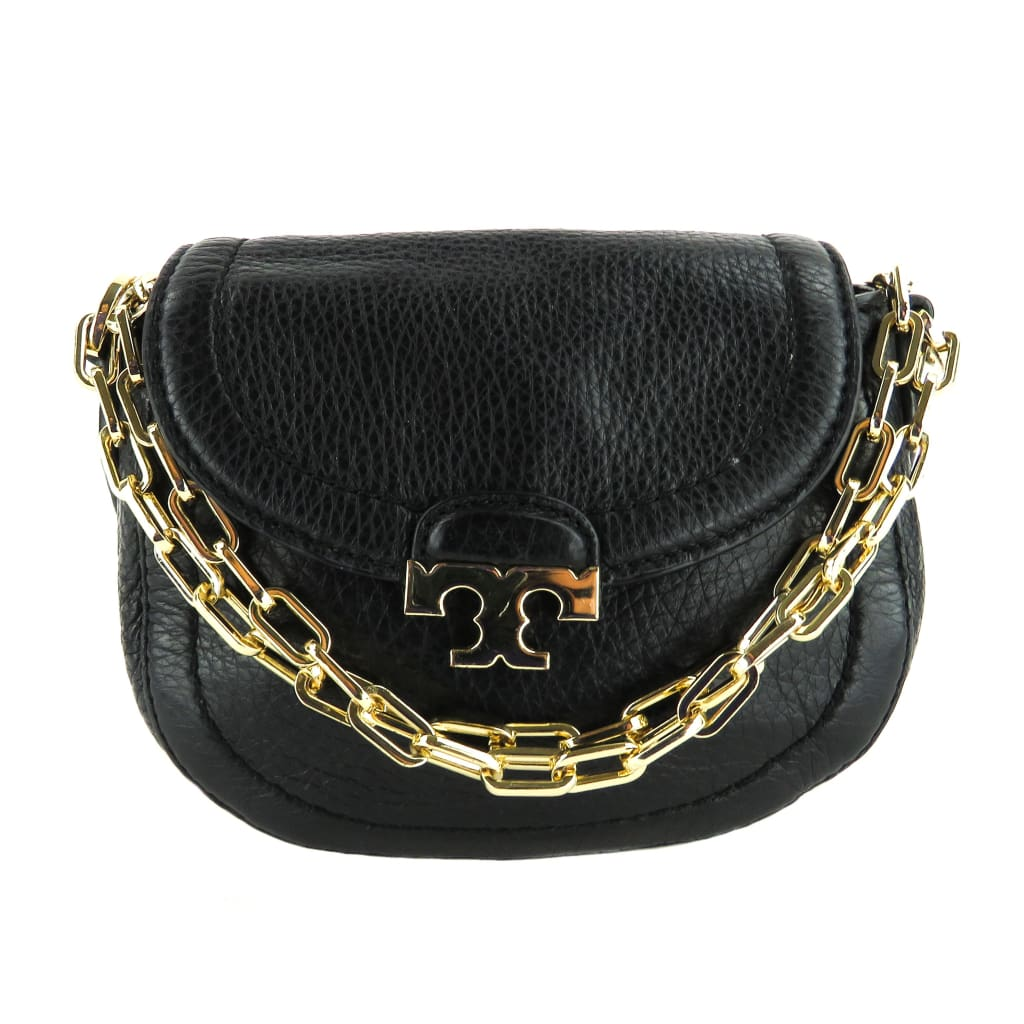 Tory Burch Black Leather Sammy Crossbody Bag - Crossbodies