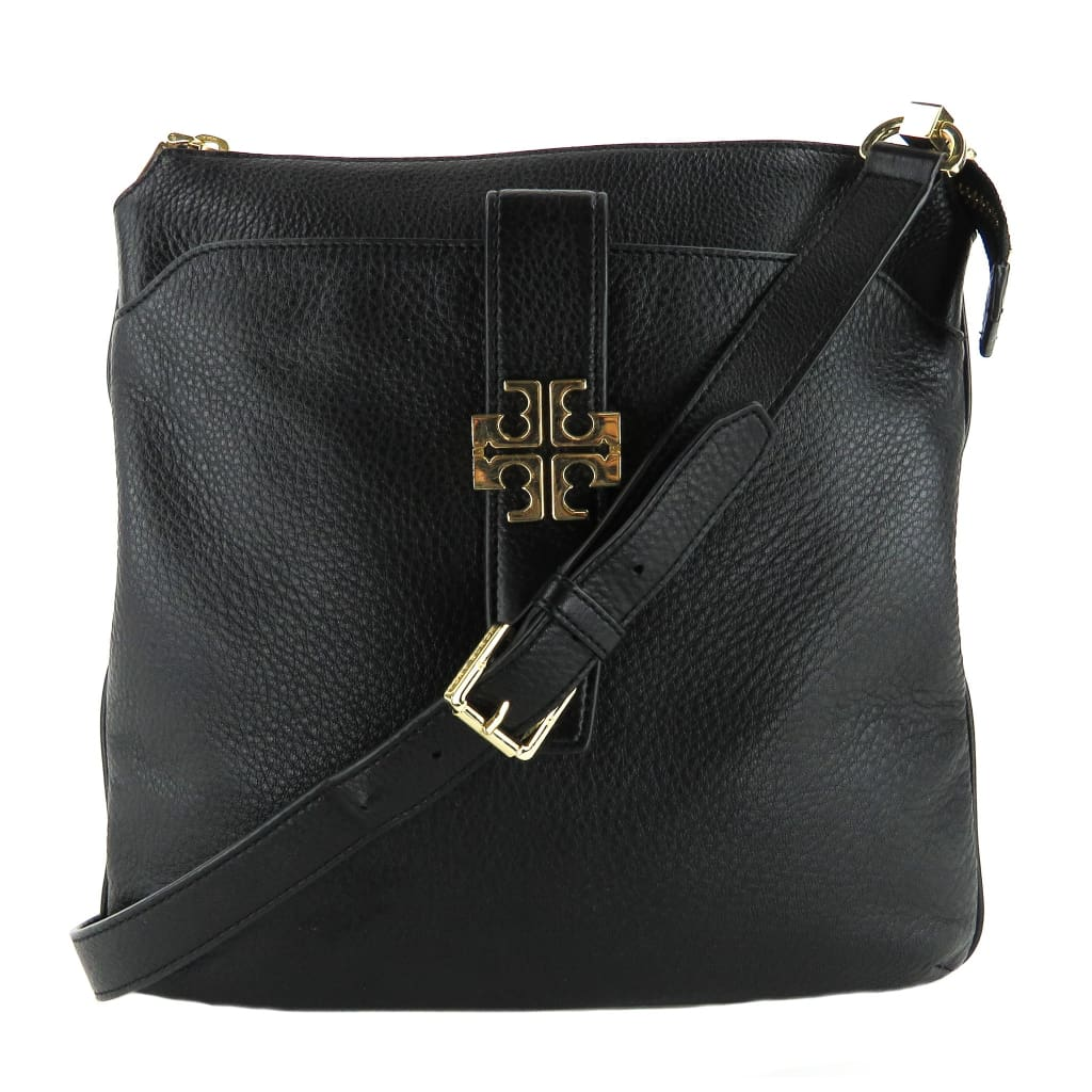 Tory Burch Black Pebbled Leather Meyer Crossbody Bag - Crossbodies