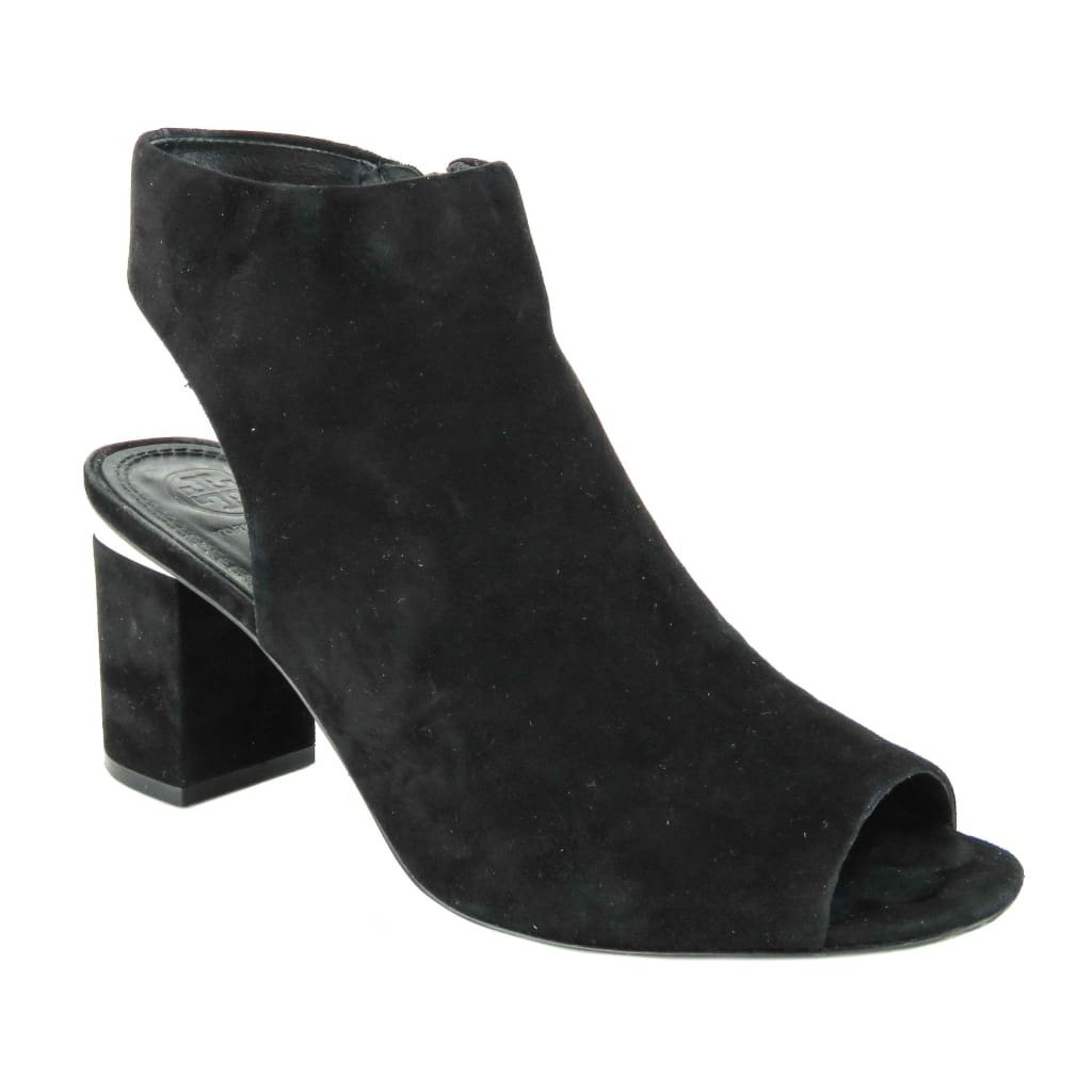 Tory Burch Black Suede Lancaster Jones Cut Out Booties - Bootie