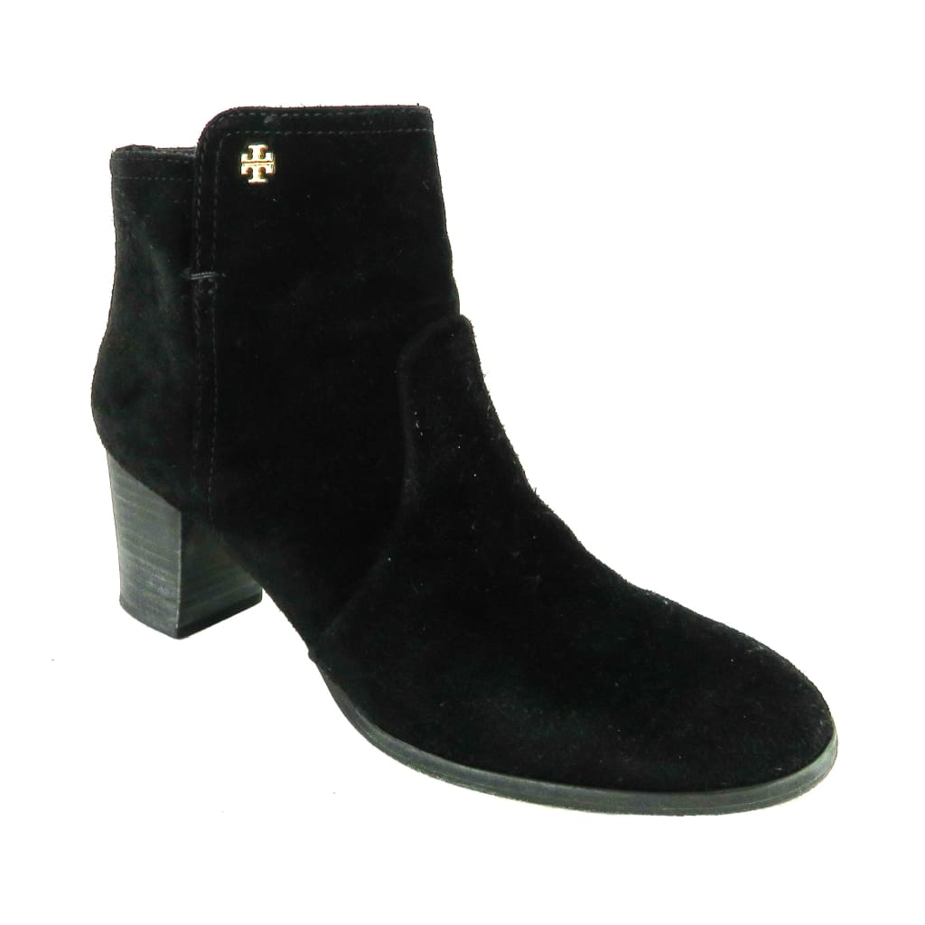 Tory Burch Black Suede Sabe Ankle Booties - Bootie
