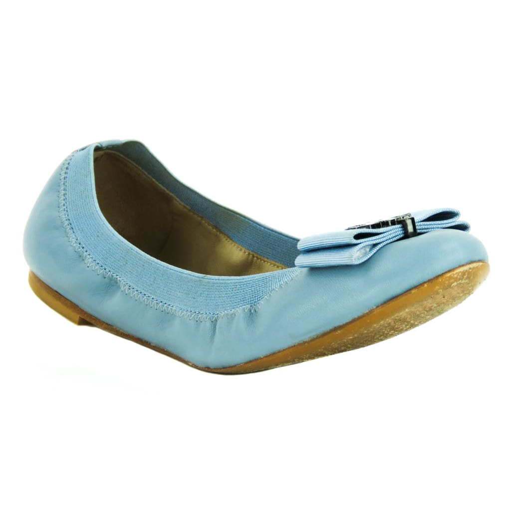 Tory Burch Blue Leather Sedgewick Glossy North Ballet Flats - Flats