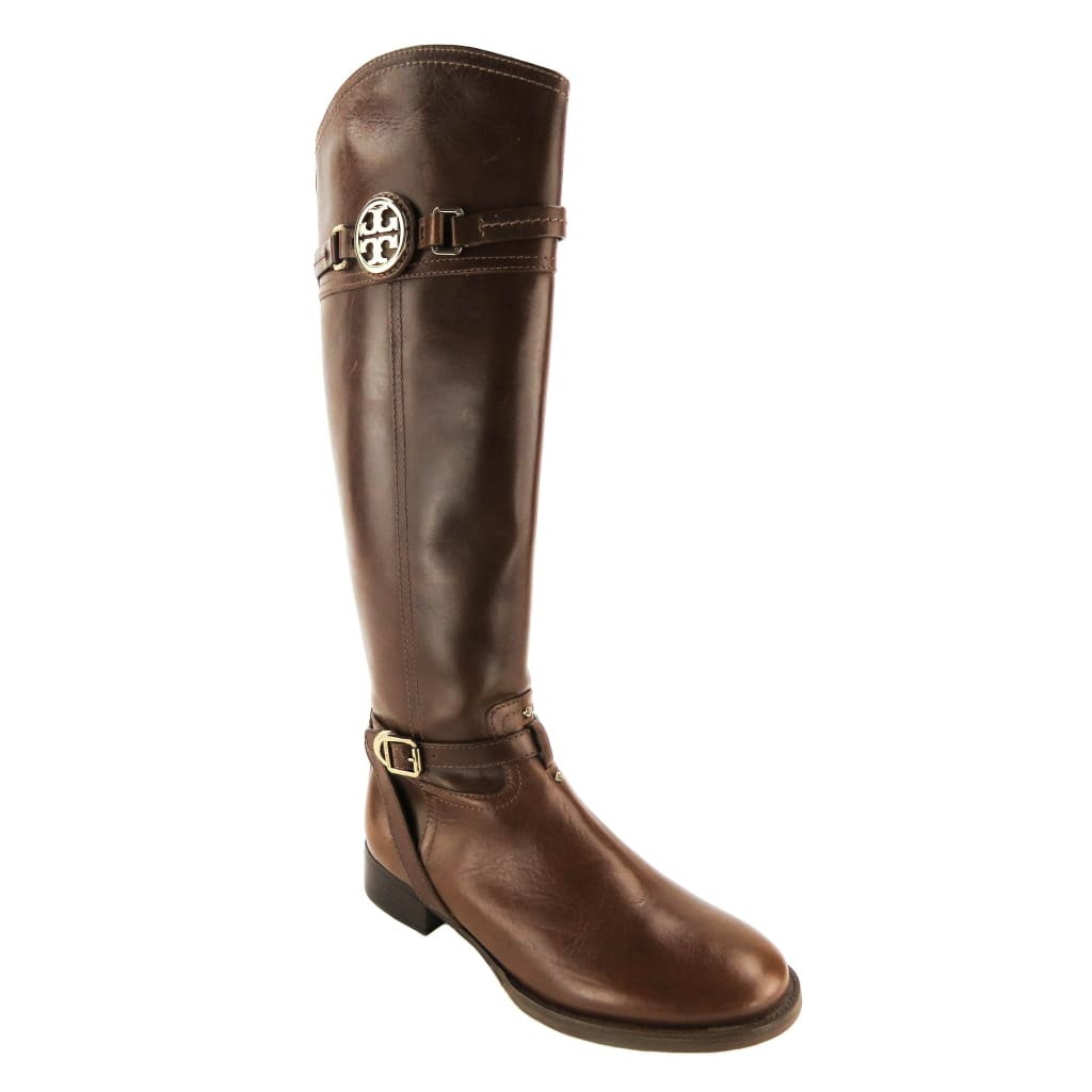 Tory Burch Brown Leather Calista Riding Boots - Boots/Rain Boots