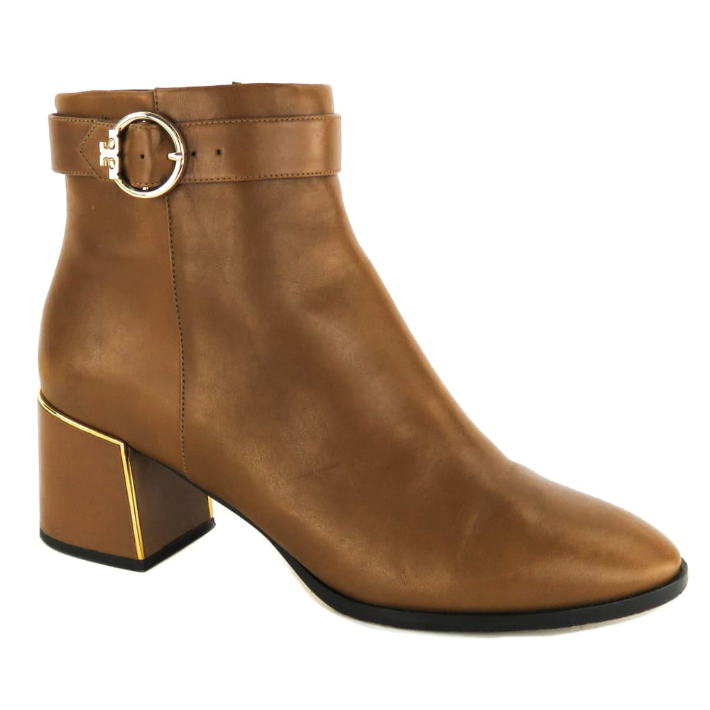 9d6f96df80452 Tory Burch Brown Leather Sofia Dress Ankle Booties – Mosh Posh ...