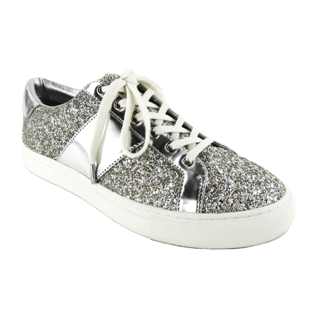Tory Burch Glitter Matte Metallic Leather Carter Lace Up Sneakers - Sneakers