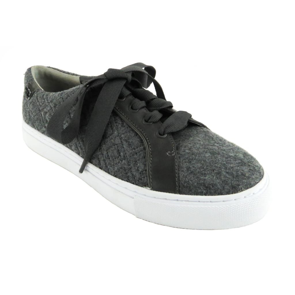 Tory Burch Grey Quilted Wool Dovestone Marion Sneakers - Sneakers