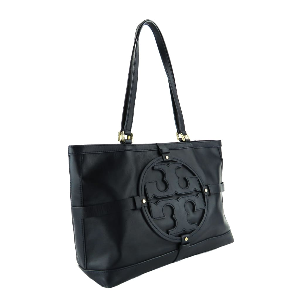 Tory Burch Navy Blue Leather Holly East West Tote Bag - Totes