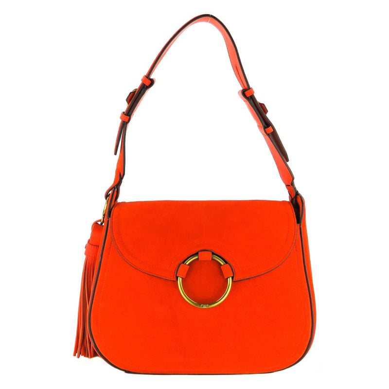 Tory Burch Orange Suede Tassel Shoulder Bag - Shoulder Bags