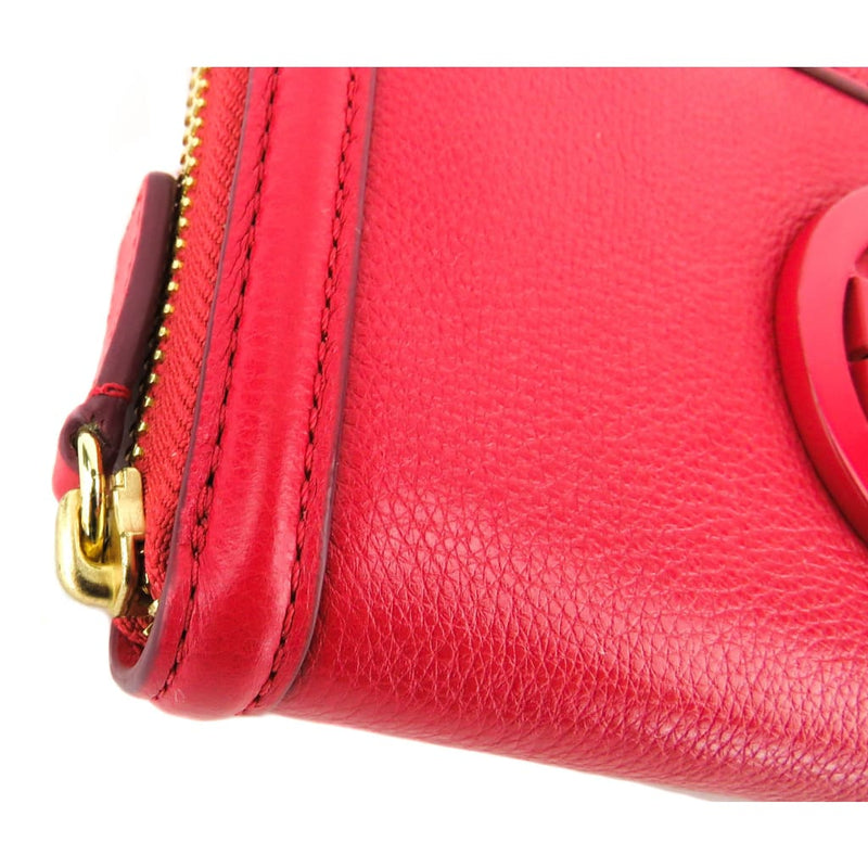 Tory Burch Red Leather Amanda Zip Continental Wallet - Wallet