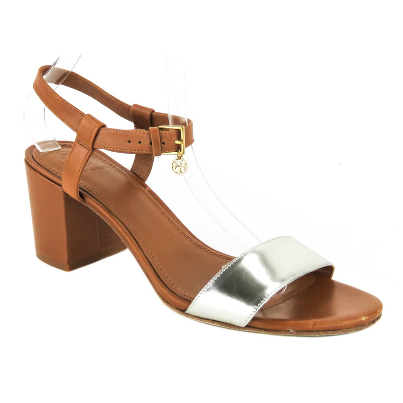 Tory Burch Tan Leather 65mm Laurel Sandal Heels - Sandals
