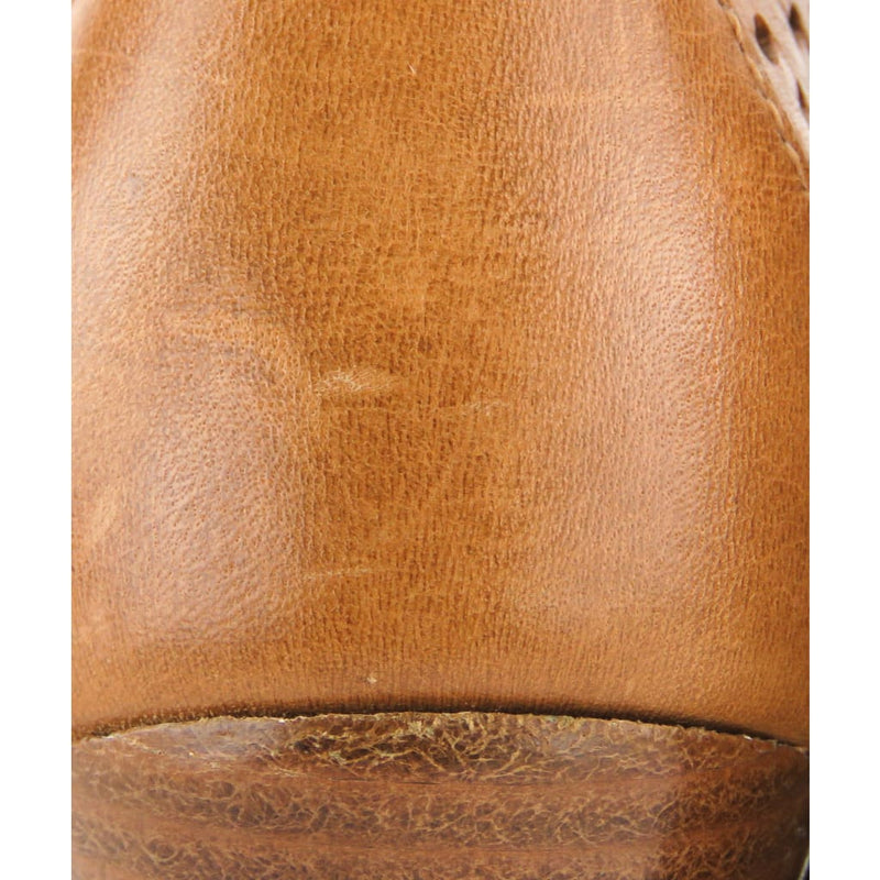 Tory Burch Tan Perforated Leather Victor Lace Up Wedge Booties - Bootie