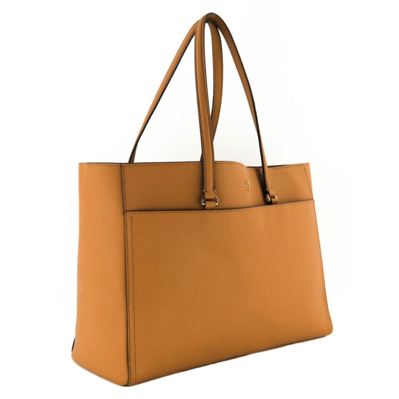 Tory Burch Tan Saffiano Leather Cardamom Robinson Tote Bag - Totes