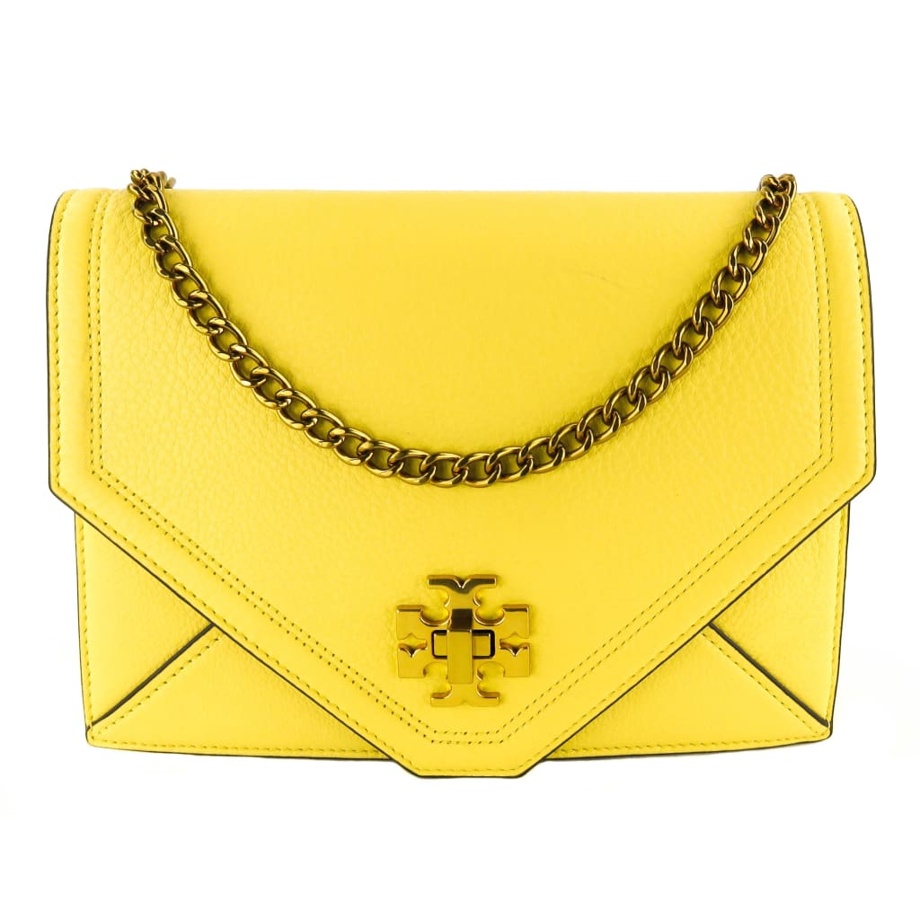 Tory Burch Yellow Leather Kira Crossbody Bag - Crossbodies