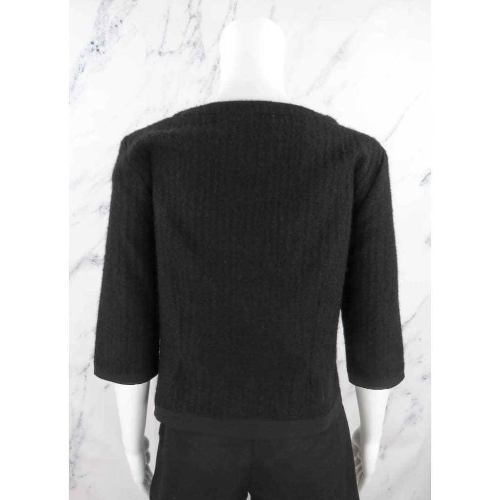 Viktor Rolf Black Wool Size 42 Shortsleeve Sweater - Sweater