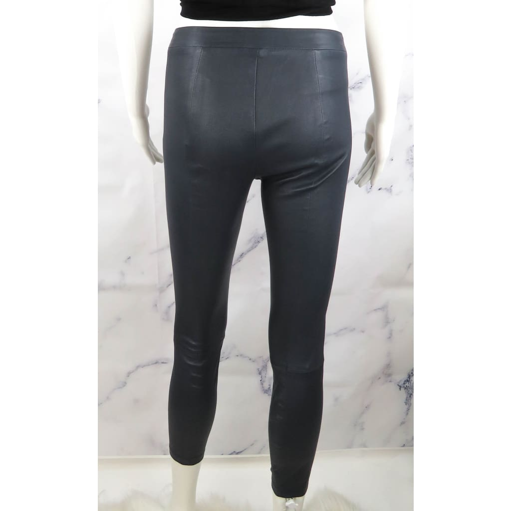 Vince Blue Leather X-Small Leggings - Leggings