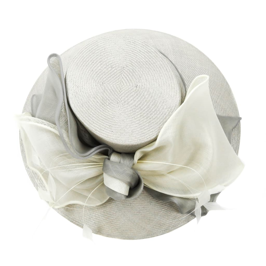Whitley Grey Straw Silk Box Derby Hat - Hats