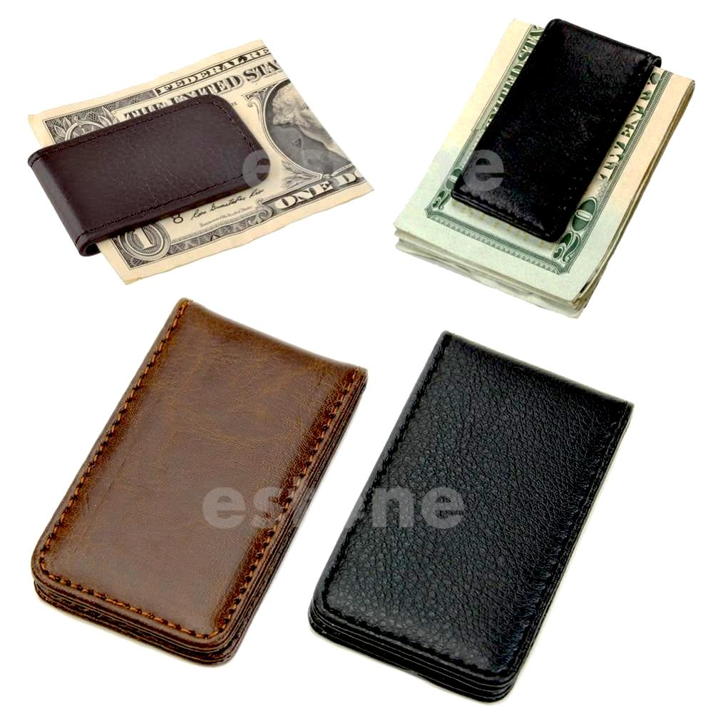 Leather Magnetic Slim Pocket Money Clip