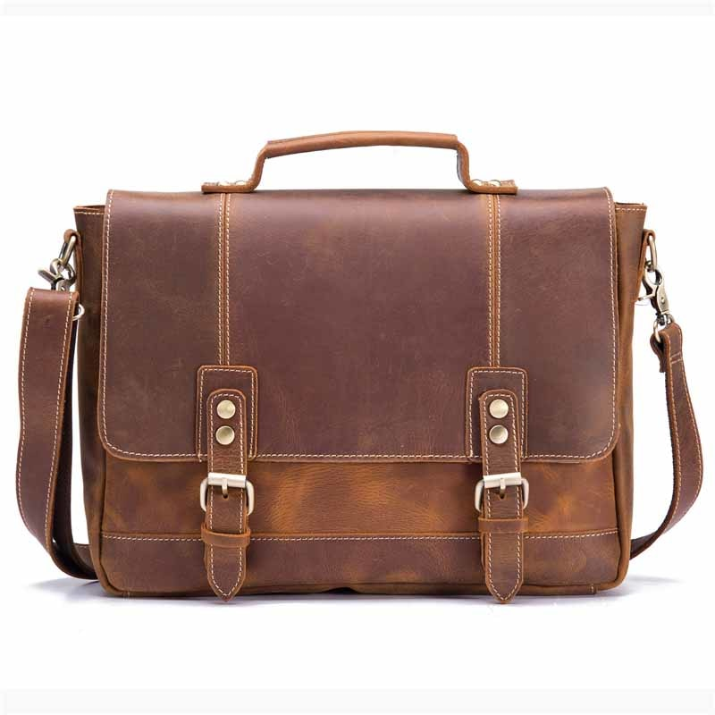 LUXEMBOURG - Vintage Men's Leather Briefcase