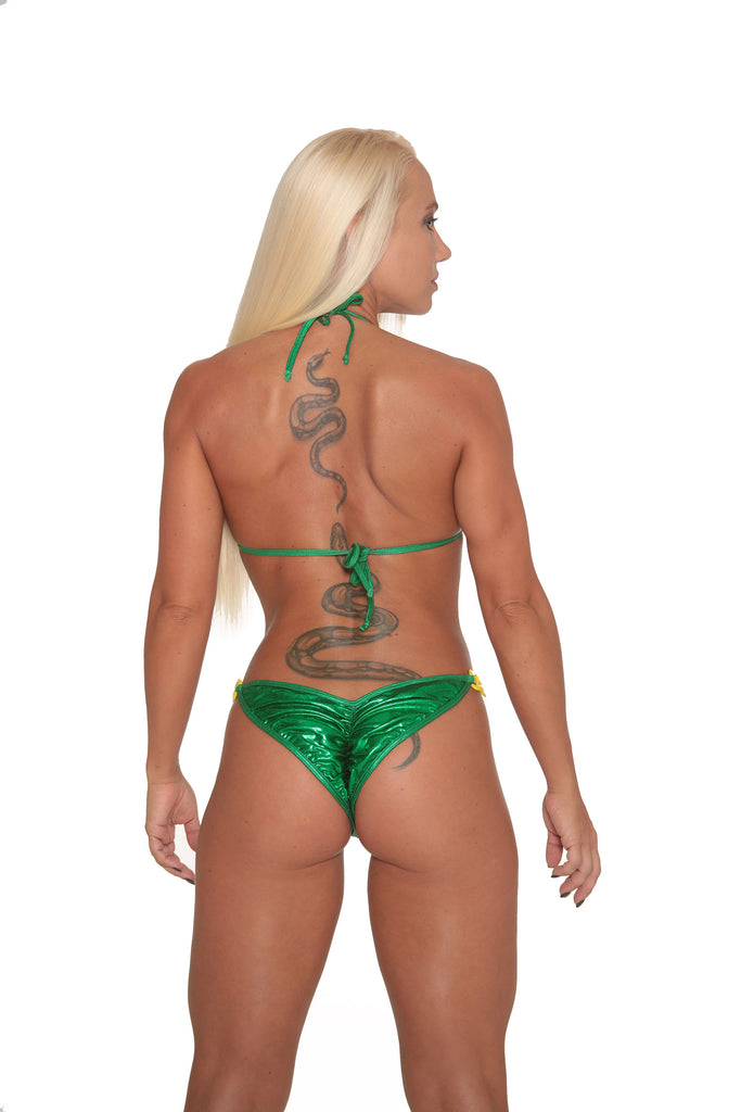 Kelly Green Metallic Bikini By Sassy Assy