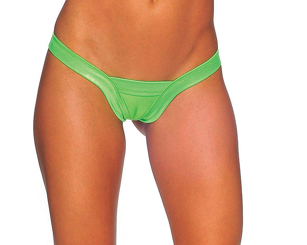 Pole Dancers Comfort V Neon Green Thong